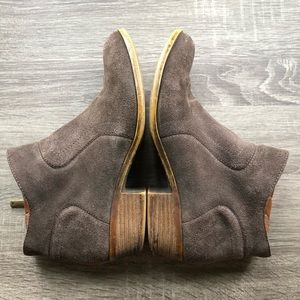 Lucky Brand Brown Suede Basel Booties, Sz 8.5